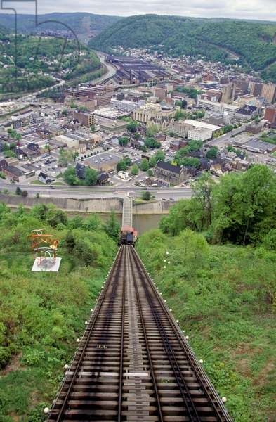 Pennsylvania, Johnstown, City View From Top Of Inclined Plane, Site Of Historic 1889 Flood