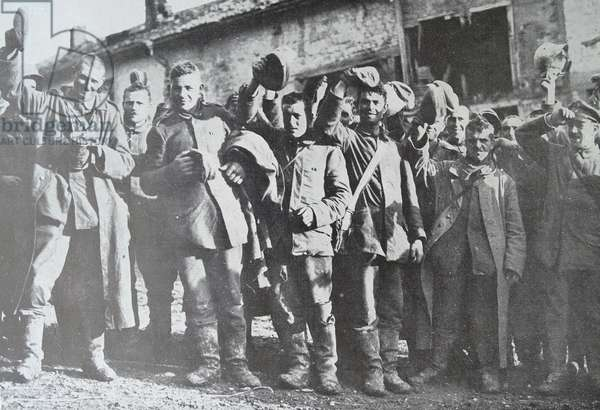 German prisoners of war at a camp in France, 1918