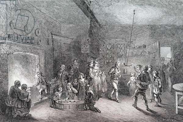 A Halloween Party. 1/1/1848 (engraving)
