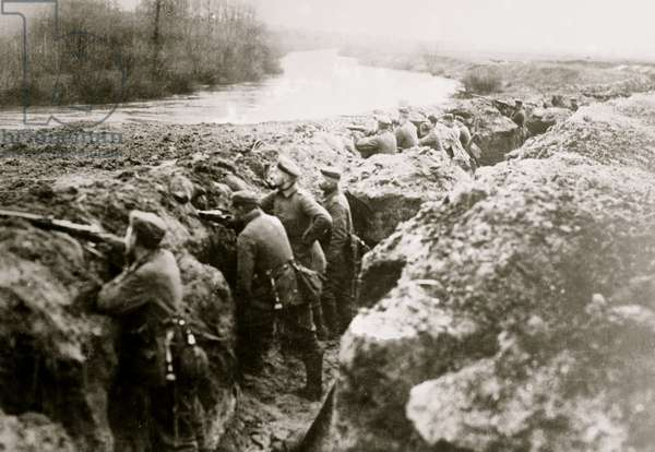 German Trenches on the Aisne (photo)