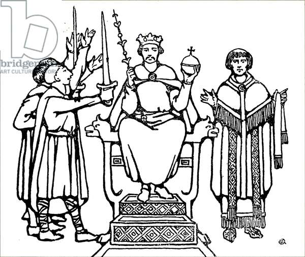 The coronation of King Harold Godwinson.