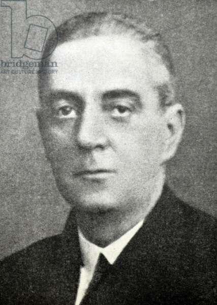 Spanish Civil War: The head of the Mahon Naval Base, Admiral Luis Pascual de Pobil y Chicheri