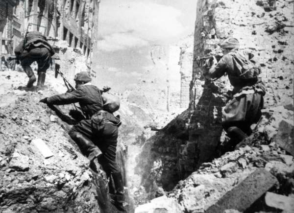 Battle of Stalingrad During the Fall of 1942.