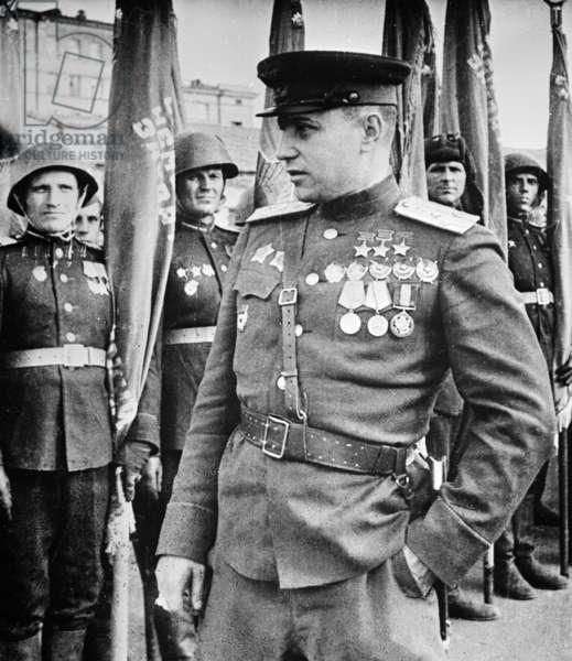 Pokryshkin, Alexandr, 1945, Famous World War 2 Soviet Pilot.