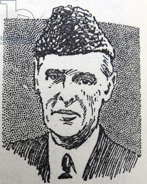 Line drawing of Muhammad Ali Jinnah