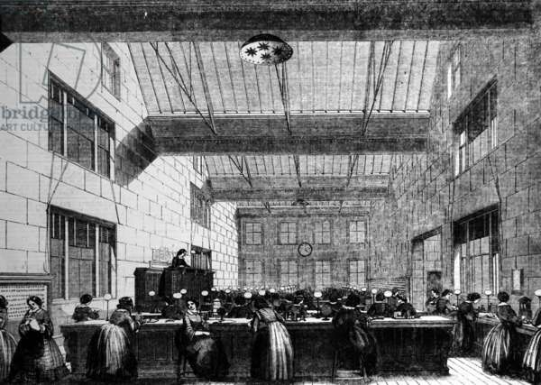 The telegraph room, 1859