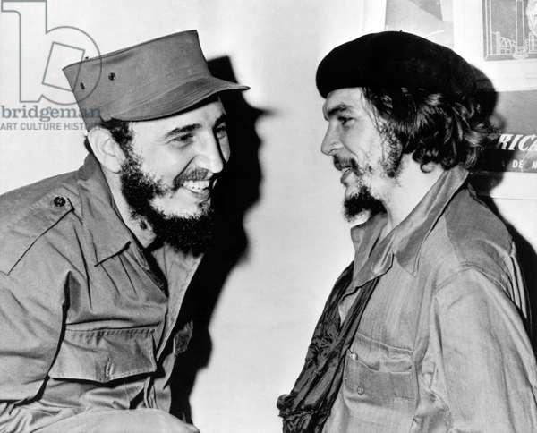 Castro And Guevara, 1959 (b/w photo)