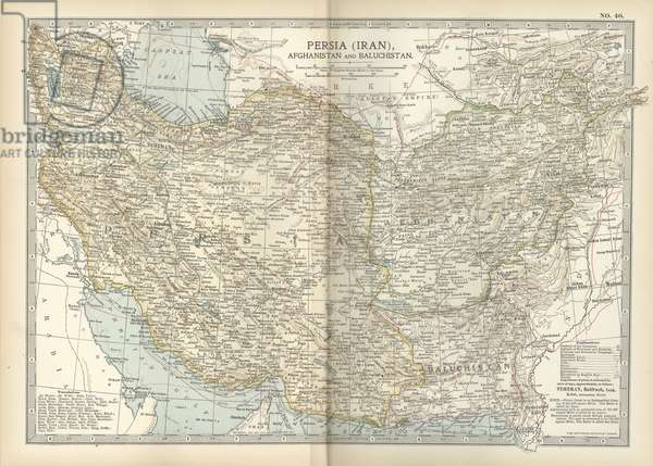Map of Persia with Afghanistan and Baluchistan