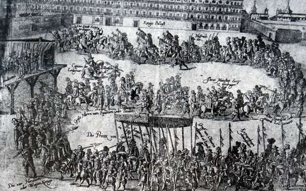 The entry of Charles I of England into Madrid, 1754