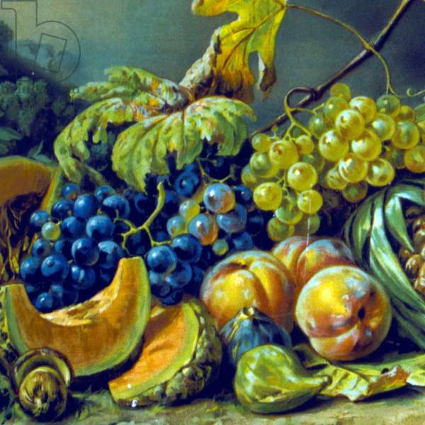 French 19th century still life painting. Artist unknown). approx. 1870