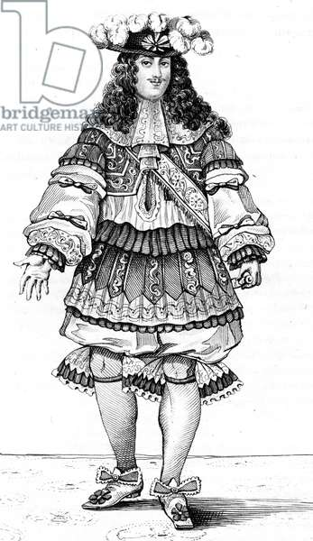 French vintage clothes XVI century Luis kingdom XIV, Louis XIV, King of France and Navarre