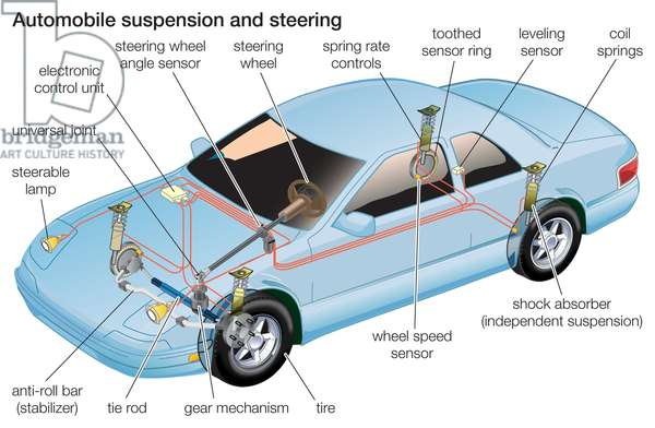 Automobile suspension and steering