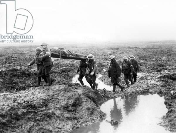 Canadian Soldiers wounded during the Second Battle of Passchendaele