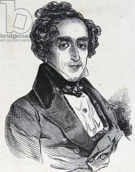 Engraving of Giacomo Meyerbeer, 1846 (engraving)