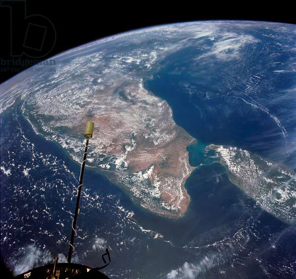 The Indian Ocean, India and Sri Lank as seen from the orbiting Gemini-11 spacecraft