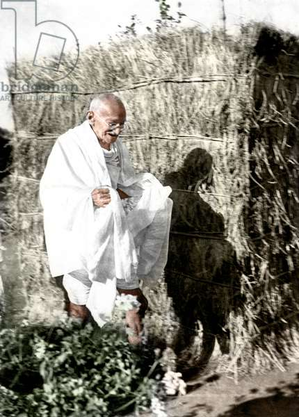 Mohandas Karamchand Gandhi dit Mahatma Gandhi (1869-1948), leader politique et spirituel indien, vers 1939 - Mahatma Gandhi, c. 1939. ©Dinodia/Uig/Leemage