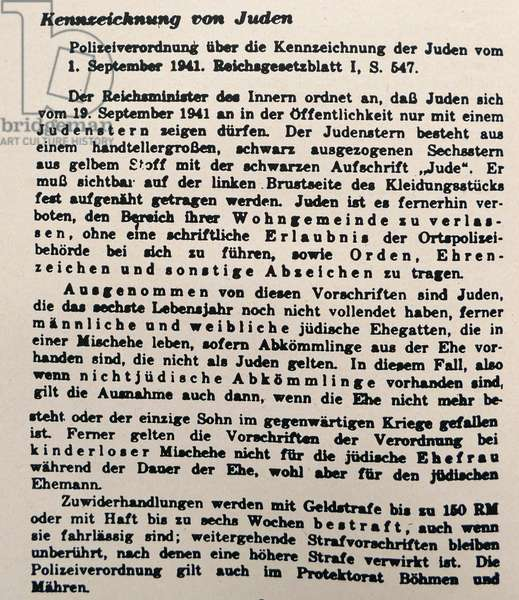 Nazi era, German Police announcement, requiring all Jews, to carry Identification cards