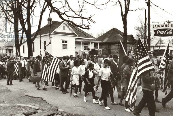 Alabama Civil Rights March, Alabama, 1965 (b/w photo)