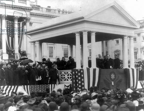 President William McKinley taking the Presidential Oath of Office