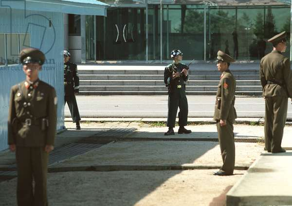 North Korea'S Pyangmunjom Frontier Post, 168 Km Off Pyongyang, on the Military Line of Demarcation Between the Two Korean States, that is the Sole Place Where the Hostile Sides Can Come Into Contact.