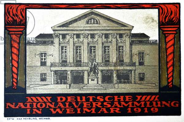The German national assembly in Weimar in 1919