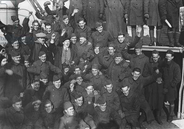 WWI Aviators Return Home, United States, c.1918 (b/w photo)