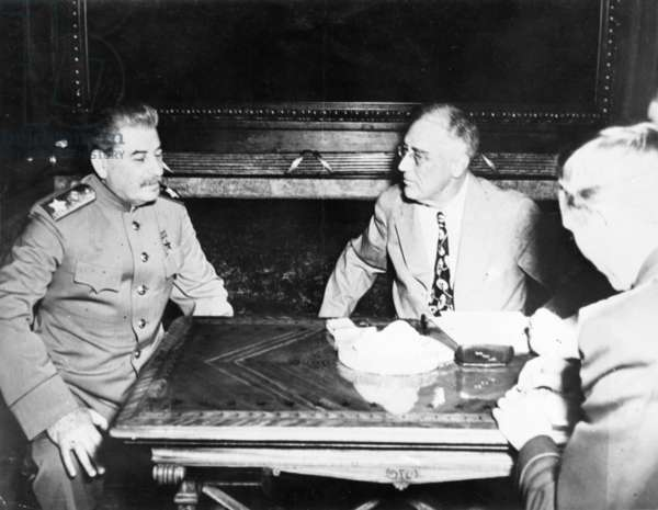 Stalin and Roosevelt at the Yalta Conference, February 1945.