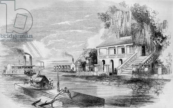 Planter's house and sugar plantation : Planter's house and sugar plantation on the Mississippi River.  ©Encyclopaedia Britannica/UIG/Leemage