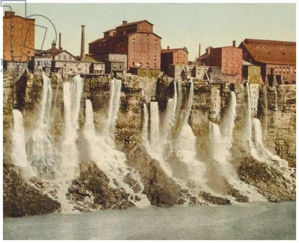Niagara, mills on American shore (photo)