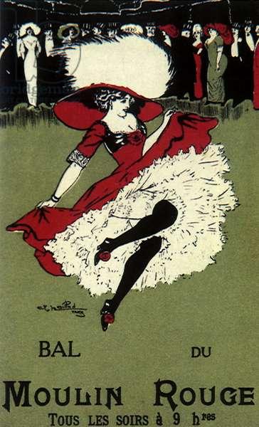 Bal du Moulin Rouge (colour litho)