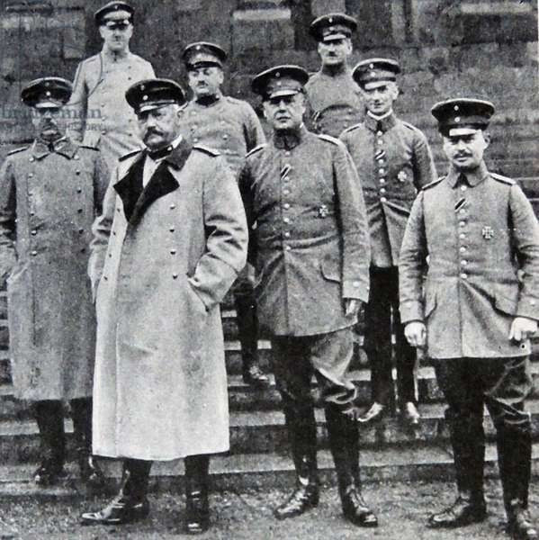 Marshal von Hindenburg and the German General Staff, 1914