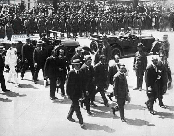 Pershing's Veterans Return, United States, c.1918 (b/w photo)