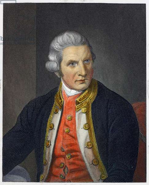 Captain James Cook (coloured engraving)