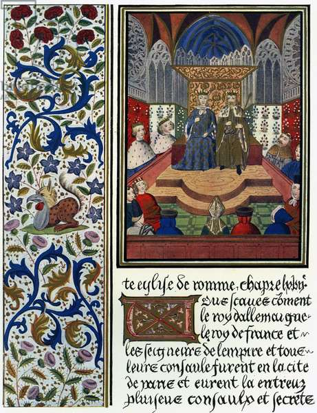 Emperor Wenceslaus IV of Bohemia and King Charles VI of France