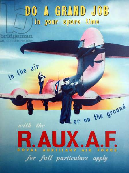 WWII Propaganda poster Royal Air Force, Royal Auxiliary Air Force
