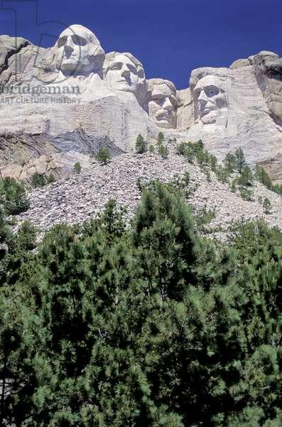 South Dakota, Keystone.  Mount Rushmore