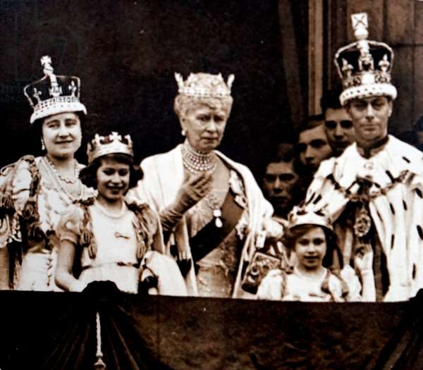 The coronation of King George VI and Queen Elizabeth Queen Mother.