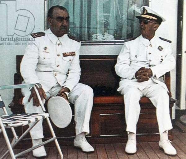 Admiral Luis Carrero Blanco, and General Francisco Franco