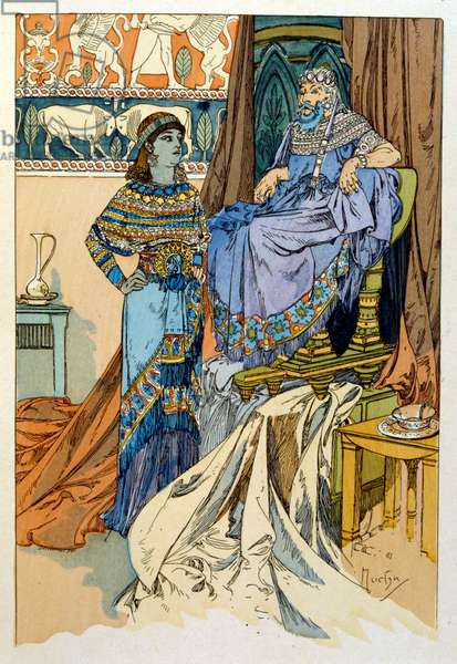 Illustration by Alphonse Mucha from