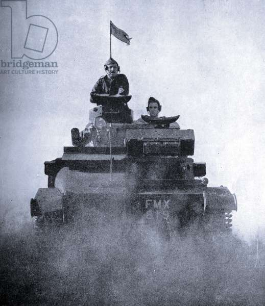 Photograph of a tank being used during World War Two
