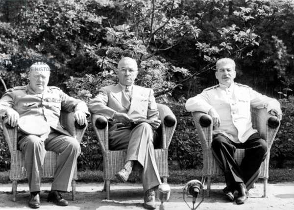 Stalin, Truman and Churchill in Potsdam, Germany, 1945.