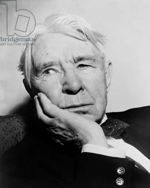 Author Carl Sandburg, United States, 1955 (b/w photo)