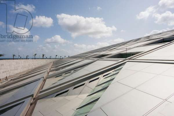 Glass Roof of the Bibliotheca Alexandrina, the Modern Library of Alexandria, Alexandria, Al Iskandar (photo)