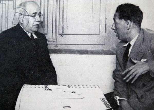 Manuel Azana (left) with Luis Companys.