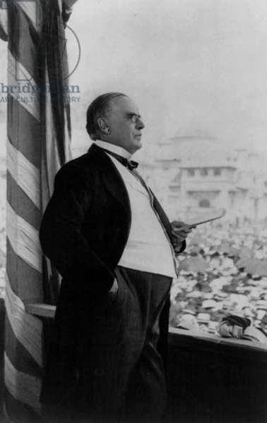 President William McKinley delivering his final address