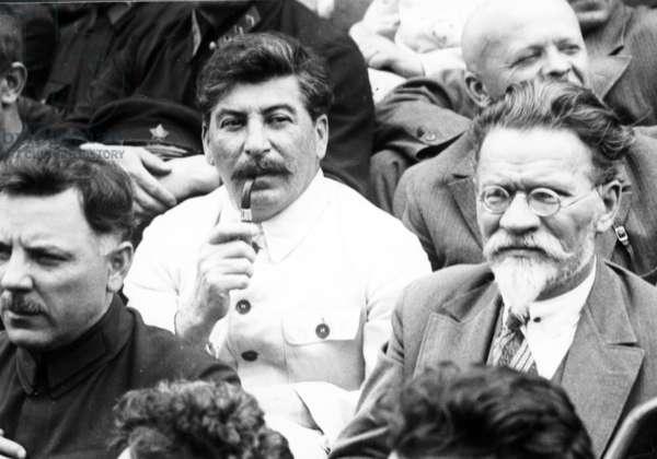 Stalin, Kalinin and Voroshilov in 1933.