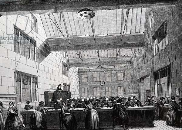 Telegraph room, Electric and International Telegraph Company, 1859