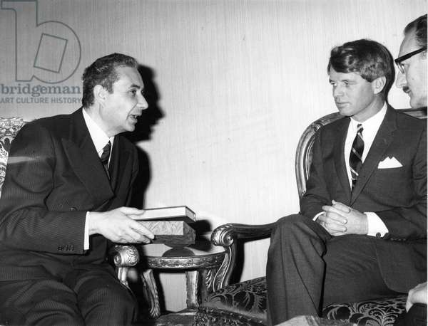 Robert Kennedy and Aldo Moro. 1966