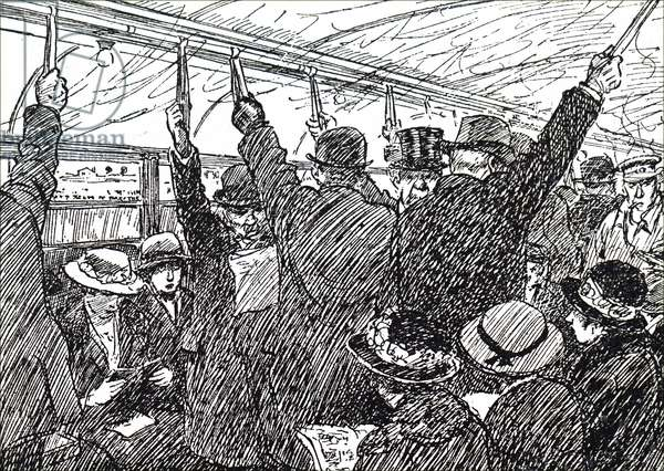 Passengers on the London Underground