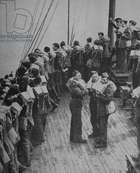 Photograph of British  Soldiers crossing the Channel